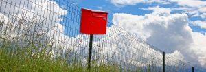 Mailbox in a field