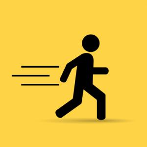 illustration of person running