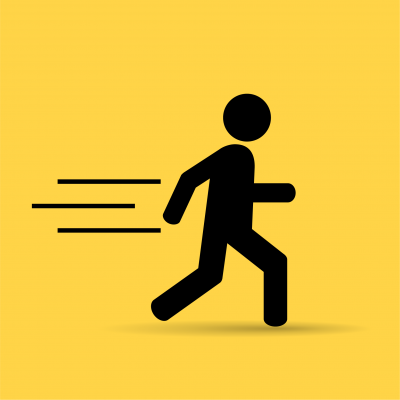 illustration of person running