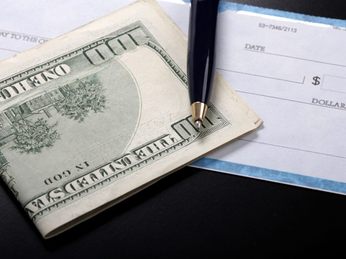 image of check and cash