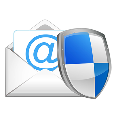 image of a shield over an email